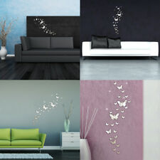 30PCS Butterfly Mirror Style 3D Decal Art Mural Wall Sticker Home Room DIY Decor