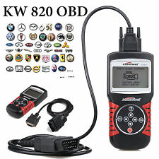 KW820 OBDII OBD2 EOBD Auto Scanner Car Check Engine Fault Code Reader Diagnostic