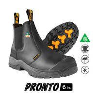 DuraDrive Men's CSA PRONTO 6 in. Black Leather Metal-Free Waterproof Work Boots