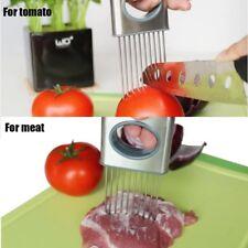 1Pcs Easy Cut Onion Holder Fork Stainless Steel Tomato Slicer Cutter
