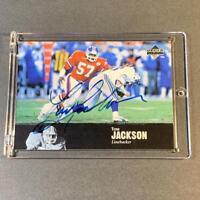 TOM JACKSON 1997 UPPER DECK LEGENDS #AL-119 AUTOGRAPH AUTO CARD BRONCOS NFL