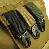 Tactical Training Outdoor Survival Military Belt Buckle Carabiner Lock Hook