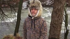 Coyote fur aviator hat *  cold weather hats * ski hat beaver red fox mens womans