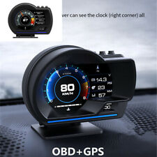 Multifunctional Digital Car HUD GPS Speedometer Turbo Temp Gauge OBD2 Fault Code
