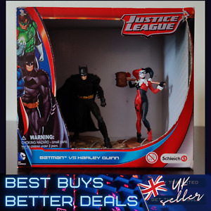 Batman vs Harley Quinn Justice League DC Comics Schleich Model Figures NEW