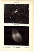 ca1890 ASTRONOMY NEBULA Antique Engraving Print