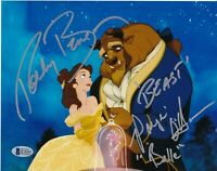 PAIGE O'HARA ROBBY BENSON SIGNED 8X10 PHOTO BEAUTY AND THE BEAST AUTO BAS COA *B