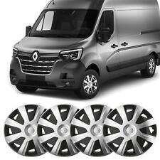 "16"" Renault Master fit Wheel Trims Van Hubcaps Set of 4 Black & Silver Quality"