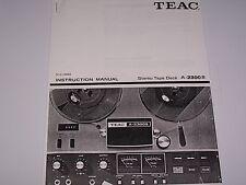 Teac A 2300 S Tape Deck  PDF Manual