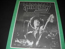Thin Lizzy now available on cassette Cd and Home Video 1991 Promo Display Ad