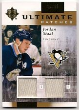Jordan Staal 11-12 Upper Deck Ultimate Patches Dual Game Used Jersey Patch /35