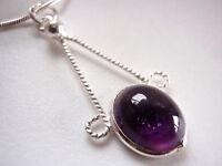 Purple Amethyst 925 Sterling Silver Pendant New Corona Sun Jewelry