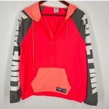 Victoria Secret Pink Jacket Hooded Rain Coat Windbreaker Pullover Logo XS