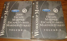 2009 Ford Escape Mercury Mariner Hybrid Shop Service Manual Vol 1 & 2 Set 09