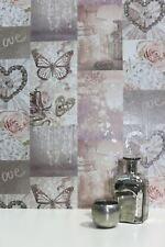 Love Paris Wallpaper Blush Pink - Arthouse 691107 Glitter