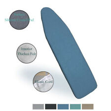 "Duwee 15""x 54"" Heat Resistant Metallic Ironing Board Cover and Pad,Elastic Cord"