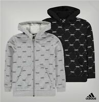 Boys Adidas Super Soft Long Sleeves All Over Print Zip Hoody Sizes from 7 to 13