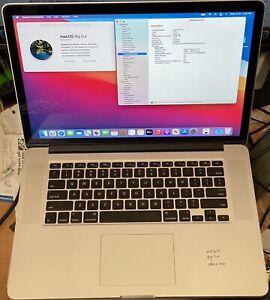 "2014 Macbook Pro 15"" Retina i7 2.2ghz 16gb RAM 500gb SSD Retina"