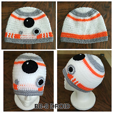 Handmade BB-8 DROID (Star Wars inspired) beanies - newborn to adult sizes