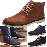 Hot British Men's Casual Suede Lace Ankle Boots High Top Loafers Sneakers Shoes
