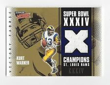 2000 Upper Deck Ultimate Victory Kurt Warner Super Bowl 34 Champions Jersey Rams