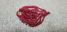 "VINTAGE RED MERCURY GLASS BEAD GARLAND 94"" TOTAL"