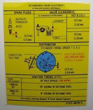 Messico & RS1600 INFO tecniche Decalcomania Mk1 / 2 ESCORT AVO nero su giallo (3 COLORI)