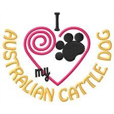 "I ""Heart"" My Australian Cattle Dog Sweatshirt 1282-2 Sizes S - Xxl"