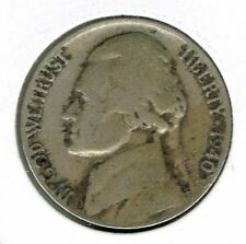 1940-D Denver Circulated Jefferson Nickel Five Cent Coin!