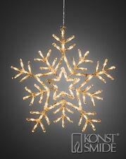 Noël 58cms acrylique Flocon de neige 90 Blanc Chaud Eclairage LED décoration