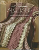 Last Minute Afghans Rena V Stevens Knitting Instruction Pattern Book Annie's NEW