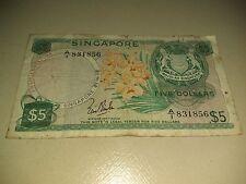 Singapore Orchid $5 A1 prefix note