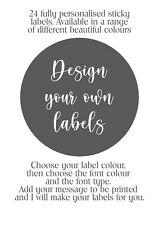 Design Your Own Glossy or Matt Party Cone Stickers. 45mm for Hen do, Wedding, 24