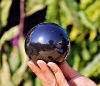 Nice Large 65MM Black Tourmaline Stone Quartz Healing Reiki Chakra Sphere Ball