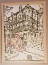 GYPSY LOU WEBB SIGNED Print Pen Ink New Orleans Art A Streecar Named Desire