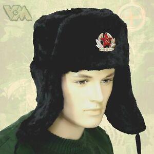 WINTERPELZMÜTZE FELLMÜTZE KÄLTESCHUTZ RUSSIA RUSSLAND UdSSR CCCP УШАНКА SOWJET,