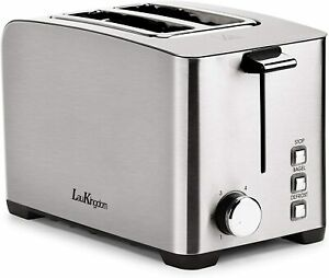 Toaster 2 Slice Long Slot,Auto Pop-Up with 6 Settings,Defrost/Cancel Button,850W