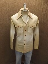 Cool Hipster Vtg USA Euro Fit Brown Color Fade LS Button Dwn Cotton Shirt Mens M