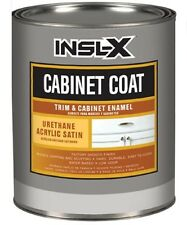 Insl-X 1qt Satin White Cabinet Coat Water Based Paint CC4510099