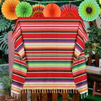 Mexican Blanket Fiesta Serape Tablecloth Textiles Throws Home Table Cover Decor