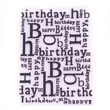 Letter Bump Embossing Template Happy Birthday Embossing Template Baking 8C