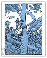 Ex-libris Sérigraphie Moebius La jungle 200ex num Signé 16x19,5 cm