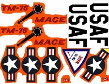 REPRODUCTION DECALS ONLY: AURORA [1958] MACE TM-76 GUIDED MISSILE
