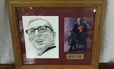 John Wooden Autographed Mat Piece! UCLA Bruins Legend! NCAA Coaching Icon! Rare!