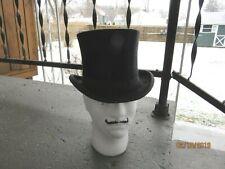 Antique Top Hat Black silk plush Size Small / X small