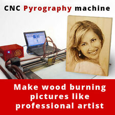 CNC Wood Burner Machine for HOME BUSINESS. Burned Pictures From Photo