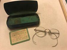 Vintage Shuron Gold Fill Eyeglasses with Bausch & Lomb Case Original Card