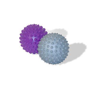 Pilates Trigger point release Spiky balls, Prickle Stimulating Balls,Purple/Grey