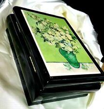 """Van Gogh's """"Vase of Roses"""" Musical Keepsake Jewelry Box US Metro. Museum of Art"""