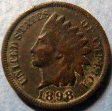 << 1898  INDIAN  HEAD  BRONZE  PENNY, Nice Details Philadelphia Mint Coin  #6